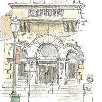 "Barbara Dysart, ""Old City Hall Doorway,"" 2015"
