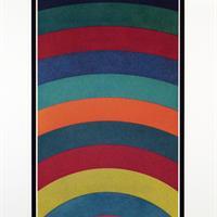 "Sol Lewitt, ""Arc Bands, Four Colors Superimposed Progressively,"" 1990"
