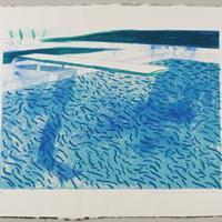 """David Hockney, """"Pool I-E,"""" 1980"""