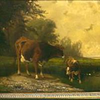 "John Jay Barber, ""Cow and Calf,"" c. 1864-1900"