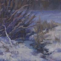 """Michelle Walker, """"Finkenbine Ditch in Winter,"""" 2014"""