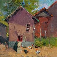 "Debra Joyce Dawson, ""Hughes' Hen House #1, Morning,"" 2010"