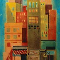 """Curtis Tann, """"Cityscape,"""" 1962"""