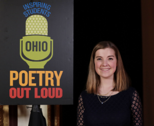 Anna Kahle, a junior at Lima Central Catholic High School and Ohio Poetry Out Loud  state champion