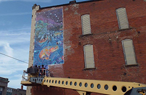Ashtabula Parachute Mural Project Promotes Artistic Pride, Community Placemaking