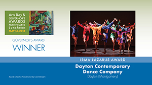 Governor's Awards 2018: Dayton Contemporary Dance Company, Irma Lazarus Award Winner
