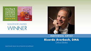 Governor's Awards 2018: Dr. Ricardo Averbach, Individual Artist Award Winner