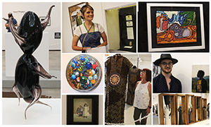 Collage of photos from the 2019 Ohio State Fair Fine Arts Exhibition