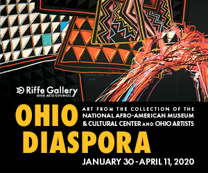 Ohio Diaspora: Art from the Collection of the National Afro-American Museum and Cultural Center and Ohio Artists. Exhibition is on view Jan. 30 through April 11 at the OAC Riffe Gallery