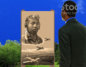 Kennedy Heights Community Council Honors Tuskegee Airman Through Artwork