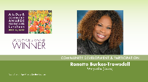 Ronette Burkes-Trowsdell, Community Development & Participation Award Winner