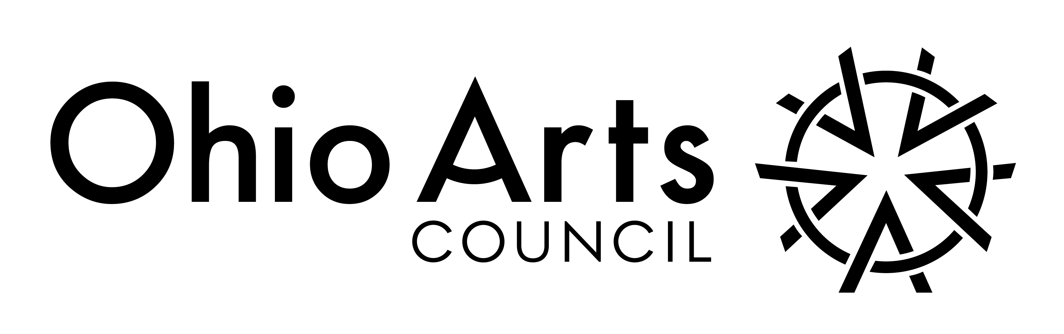 Ohio Arts Council logo (black and white)