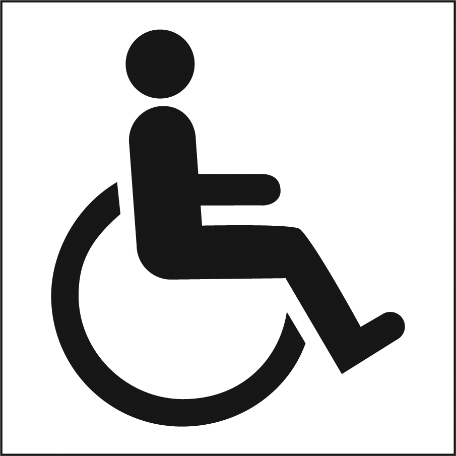 Accessibility symbol of person in wheelchair